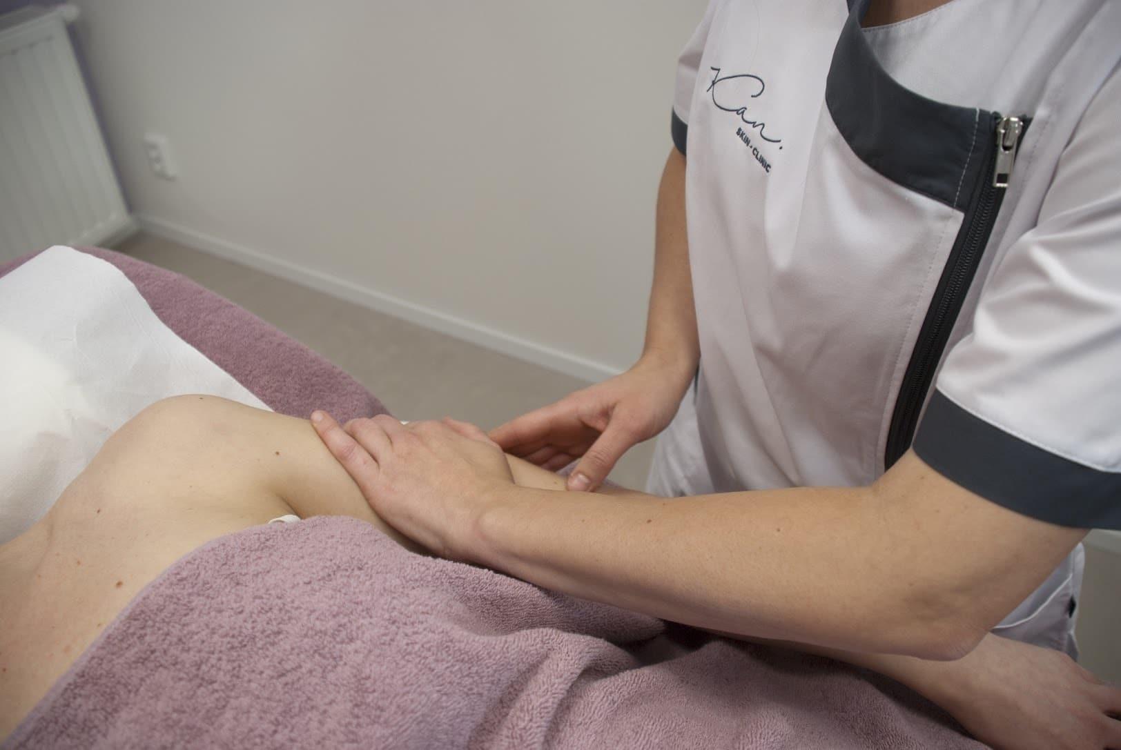 Lymfoedeem Kan Skin Clinic masseren